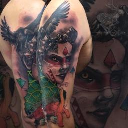 Tattoo by Hector Cedillo. [Photo: Instagram/hectorcedillo1]