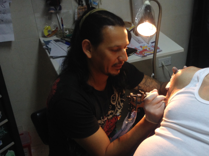 La Marca Studio's owner and artist, Leo Canosa.